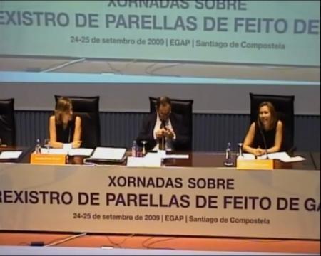 María Cacharro López e Rosana Prado Queipo - Xornadas sobre o Rexistro de Parellas de Feito de Galicia